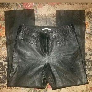 VTG Tommy Hilfiger Black Soft Leather Pants 16